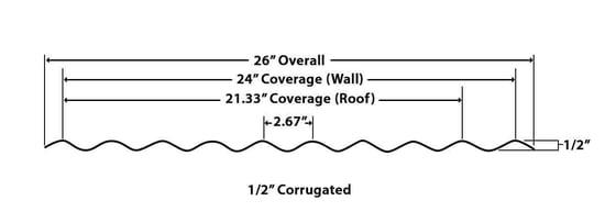 "1/2"" Corrugated"