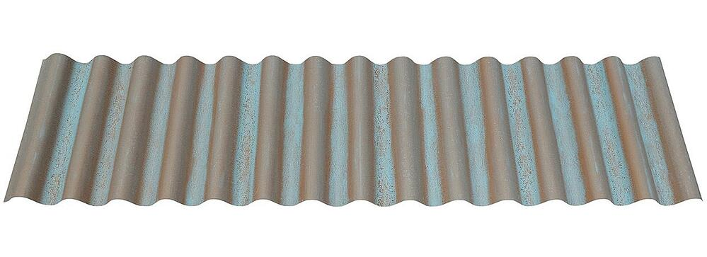 7/8 Corrugated Metal Roofing Panel in Streaked Copper