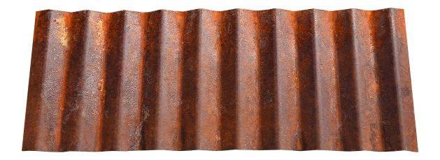 Corrugated Metal Roofing Panel in Weathering Steel