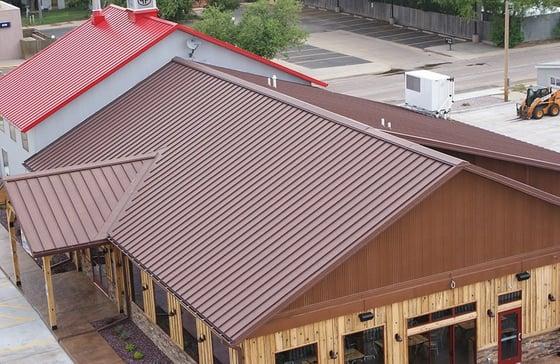 Standing seam roofing Corten AZP Raw