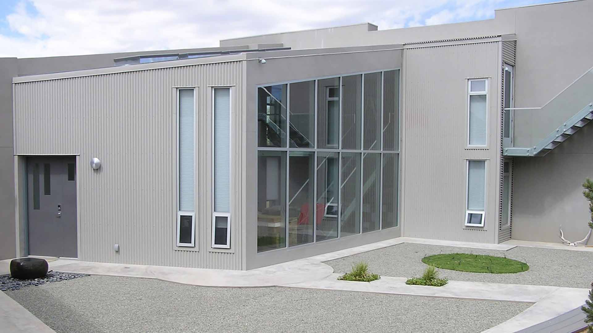 ash-gray-corrugated-metal-building