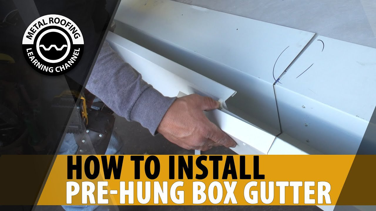 pre-hung-box-gutter-installation