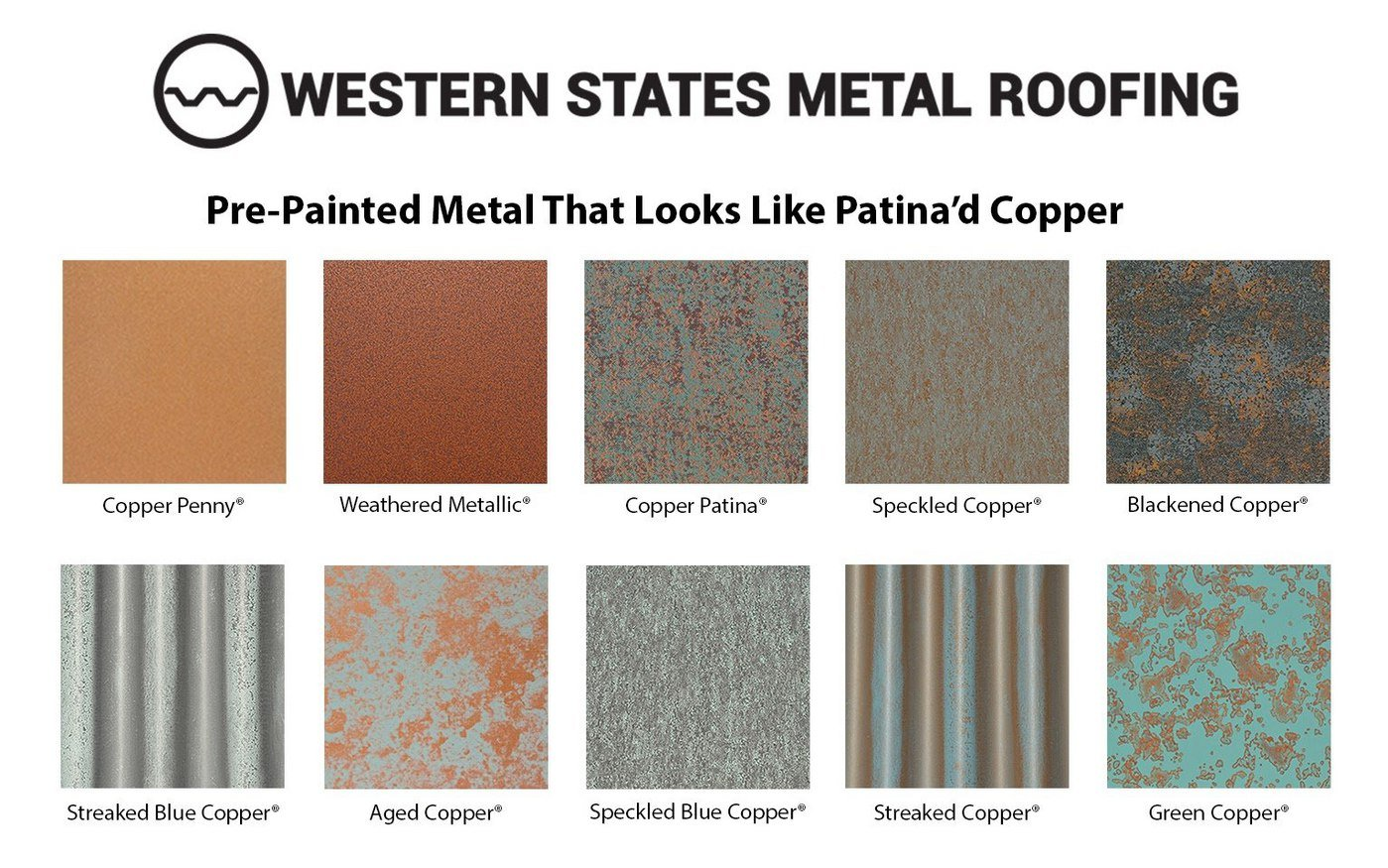 Pre-Painted Metal That Looks Like Patina'd Copper Color Card