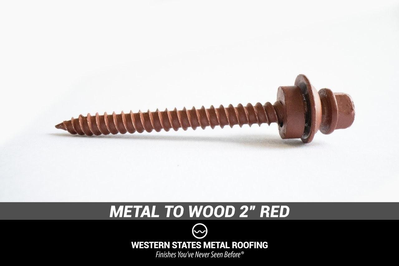 """Metal To Wood 2"""" Red Screws"""