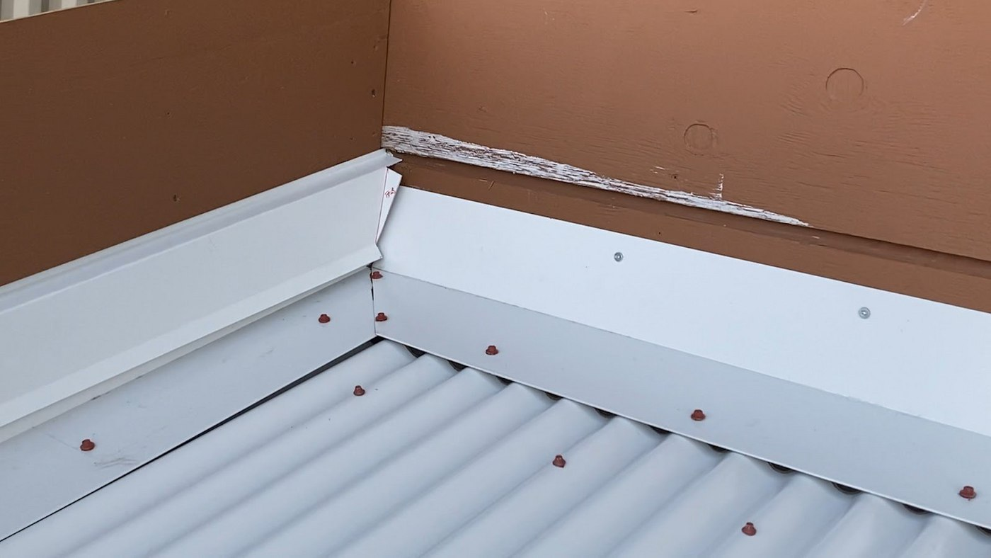 How To Install Reglet Flashing On A Metal Roof