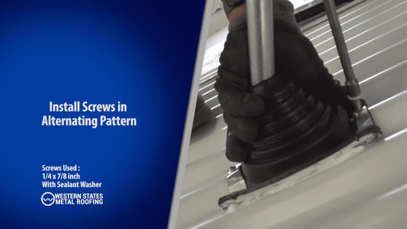 Install Screws In Alternating Pattern