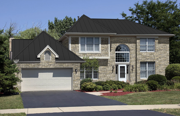 charcoal gray metal roofing