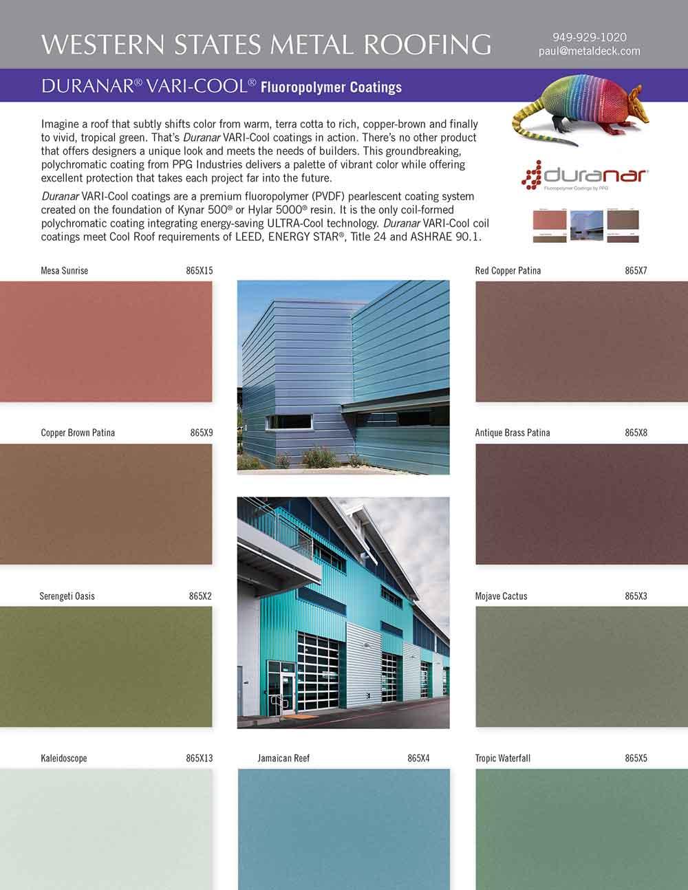 Varicool Color Card